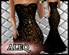 A- Black Gold Dress