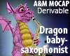 Small Dragon saxophonist