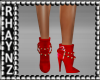 Red AnkleBoots GoldStuds