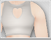 ♡w heart crop top♡