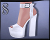 -S- Angelish White Heels