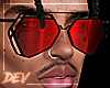 !D Asteri Glasses Red
