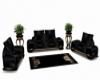 Blk.&Gold Livingroom set