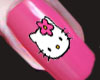 Glossy Hello Kitty Nails