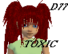D77 Toxic-Dark Red hair