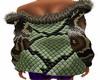 manteau peau  serpent