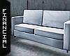 ϟ White leather Couch