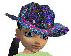 Glitter Blue Cowgirl Hat