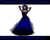 {V} Black&Blue Ball Gown