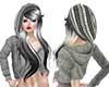 Crea cap & longhair gray
