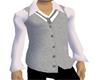 Mec whtshirt silver vest