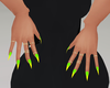 Green Yellow Ombre Nails