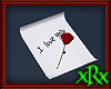Love Letter w/Rose red