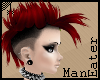 Punky red Mohawk