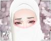¤ white half niqab