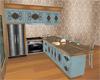 Vermont blue kitchen