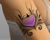 Tribal PURPLE Heart Tatt