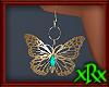 Butterfly Earrings Teal