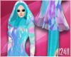 24: Blue Floral Hijab