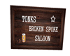 Broken Spoke Saloon Sign