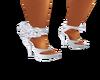 Silver Rose Heels