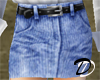 Belted Jean skirt (dnm)