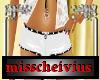 playboy white shorts