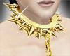Gold spike collar chain