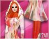 24: Orange Floral Hijab