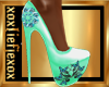 [L] Mint Butterfly Heels