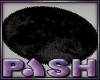 [PASH] Black Oval Rug