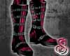 Demon Flame Boots Pink