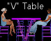 """""""V"""" Club Table for 4"""