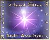 Hand Star  R Amethyst