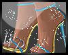 Elegant Aqua Sandals