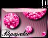 *R* Pink Glitter Sticker