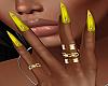 !P! Rings Yellow Nails