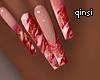 q! strawberry milk nails