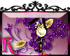 *R* Purple Charm Sticker