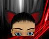 ~N~ Red Black wolf ears