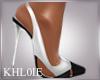 K black white heels