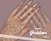 $ Beige Nails + Henna