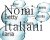 Nomi Italiani