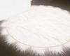 :3 Round White Rug