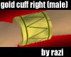 Gold WristCuff-Right (M)
