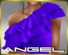 Ruffle top Purple