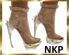 NKP-Lace Boot-champagne