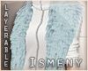 [Is] Fur Shrug L Blue