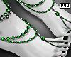-P- Green Pearl Feet