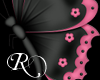 Black/Pink Butterfly